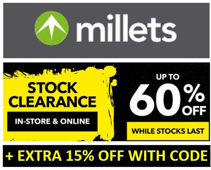 Millets Clearance Sale