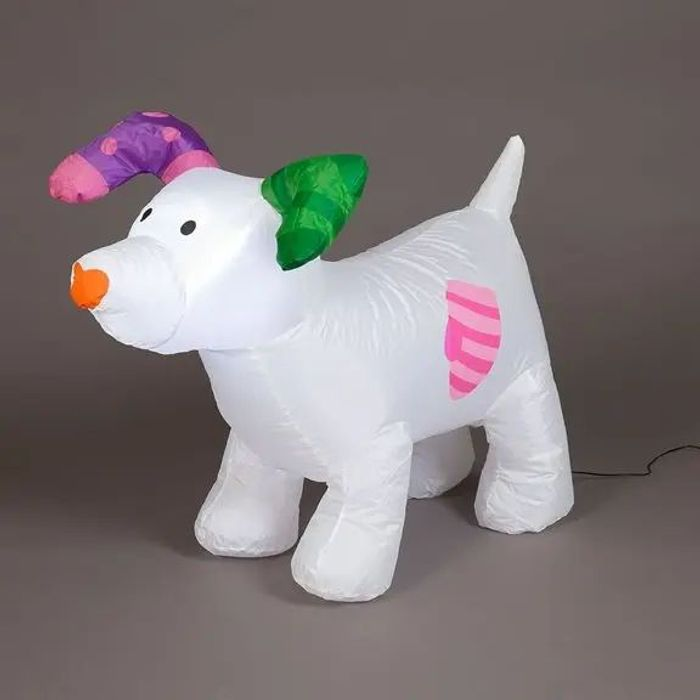 The Snowdog LED Lit Christmas Inflatable