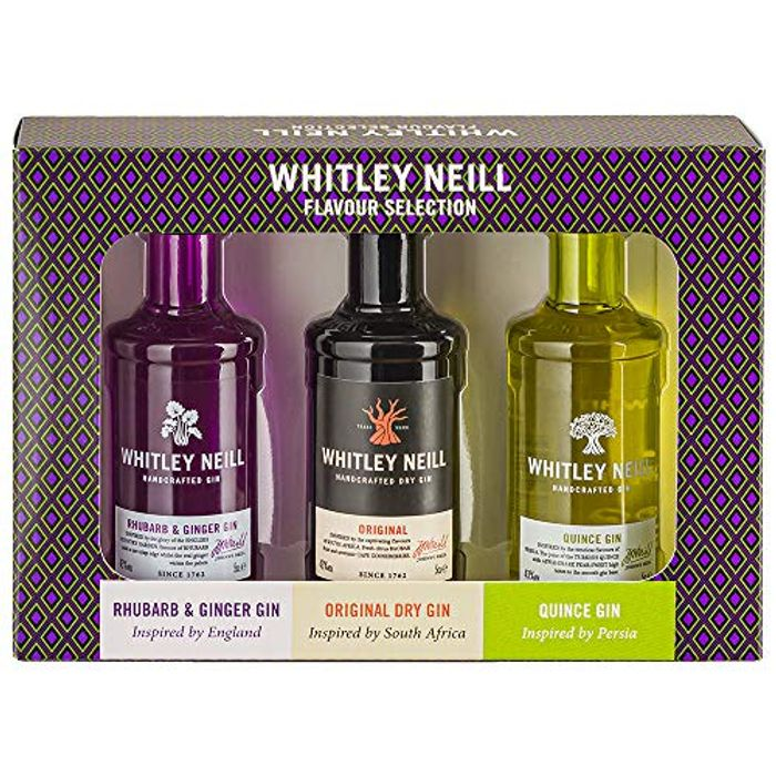 Whitley Neill Gin Taster Gift Pack, 3 X 5 Cl + £3.99 Del