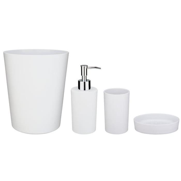 Argos Home 4 Piece Bathroom Accessory Set - White