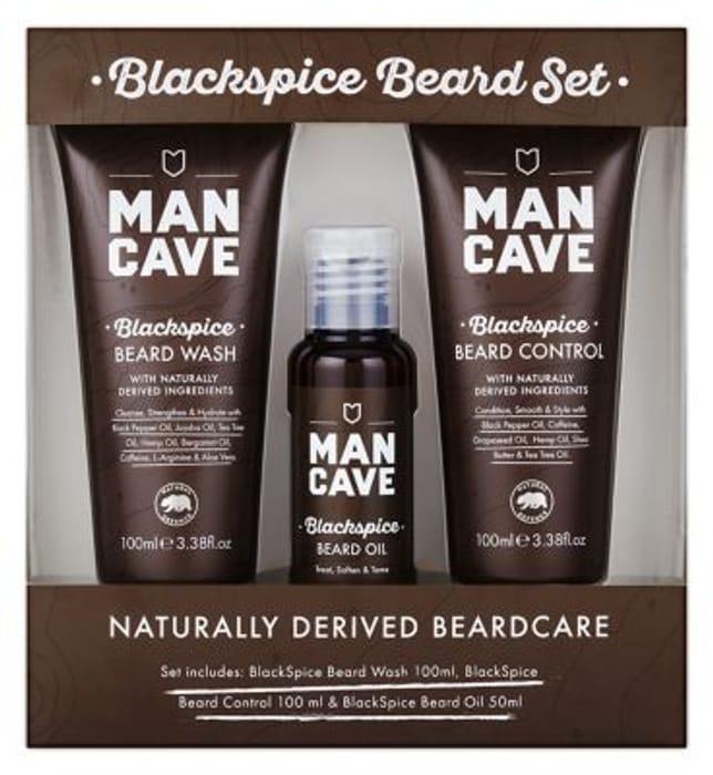 ManCave Blackspice BeardCare Set