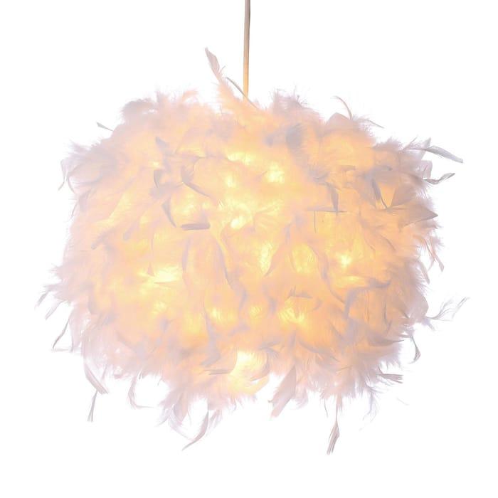 BHS Lighting White Feather Plume Light Shade, Half Price!