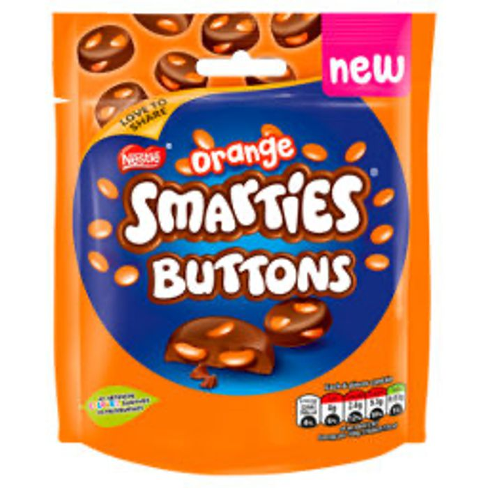 Smarties Orange Chocolate Buttons Sharing Bag