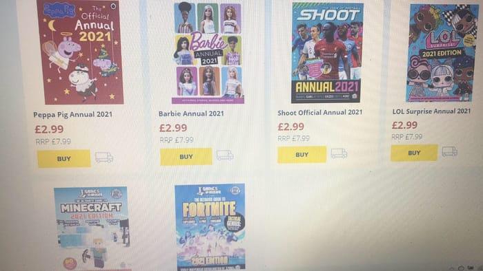 LOL ,Peppa Pig,Barbie,Shoot,Minecraft ,Fortnite Annuals 2021 (Links Inside)