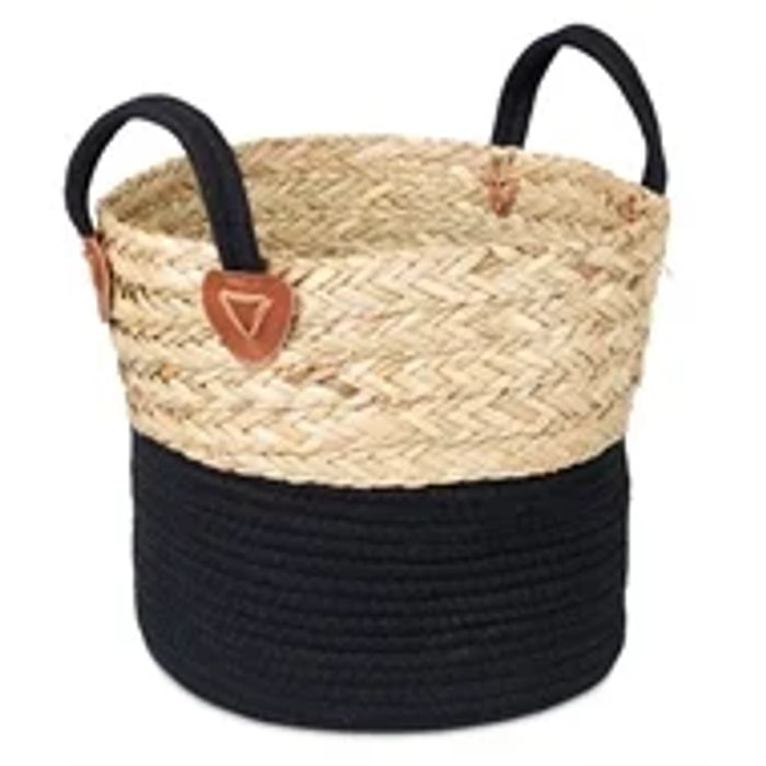 Medium Rope Storage Basket - Black Base