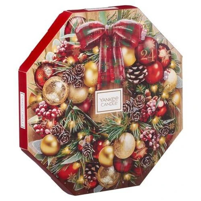 Yankee Candle Advent Calendar Wreath Gift Set - Alpine Christmas Delivered FREE
