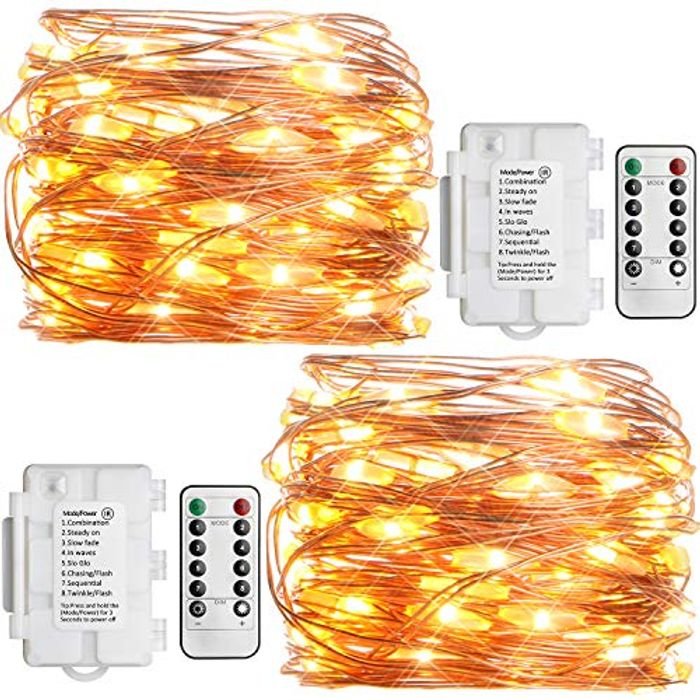 [Remote and Timer] 2 Pack KooPower 50 LEDs Fairy Lights with £4 off Coupon
