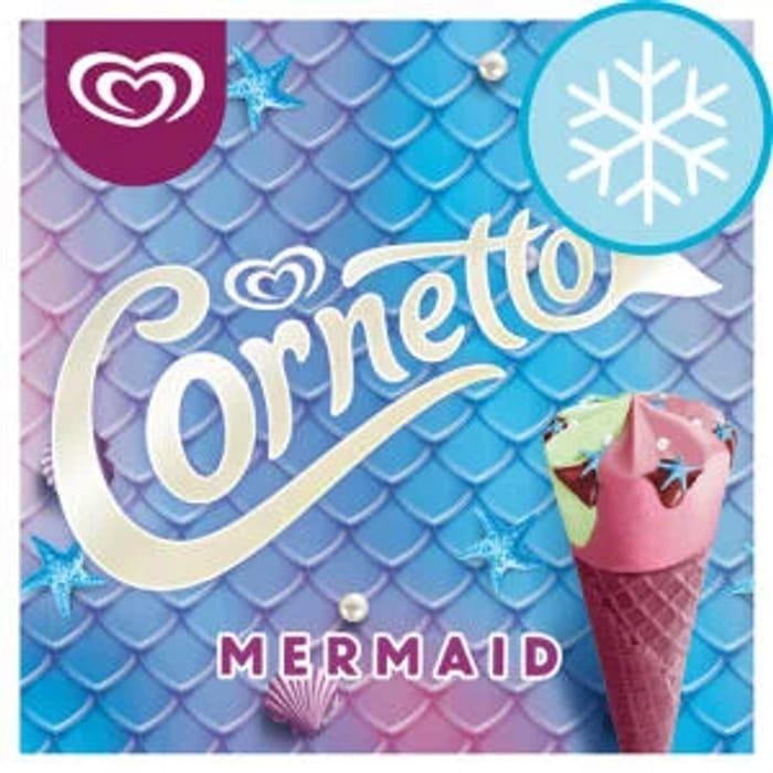 Cornetto Mermaid Raspberry & Vanilla Ice Cream 4 Pack 360Ml club price