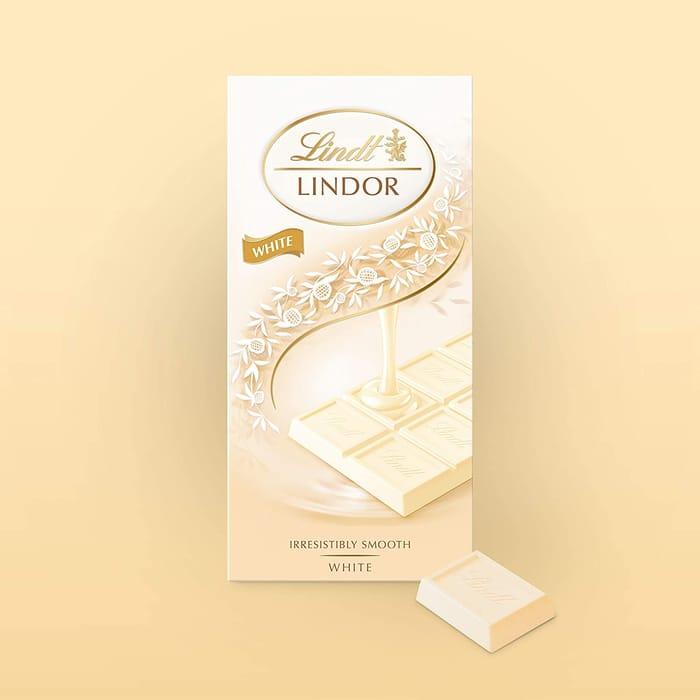 Lindt Lindor White Bar - 100g