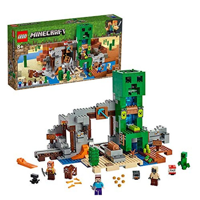 SAVE £16 + FREE DELIVERY - LEGO Minecraft 21155 - The Creeper Mine