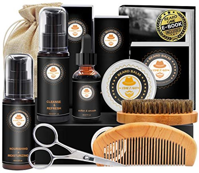 Amazon Deal - Upgraded Beard Grooming Kit Beard Conditioner with £10 off Coupon
