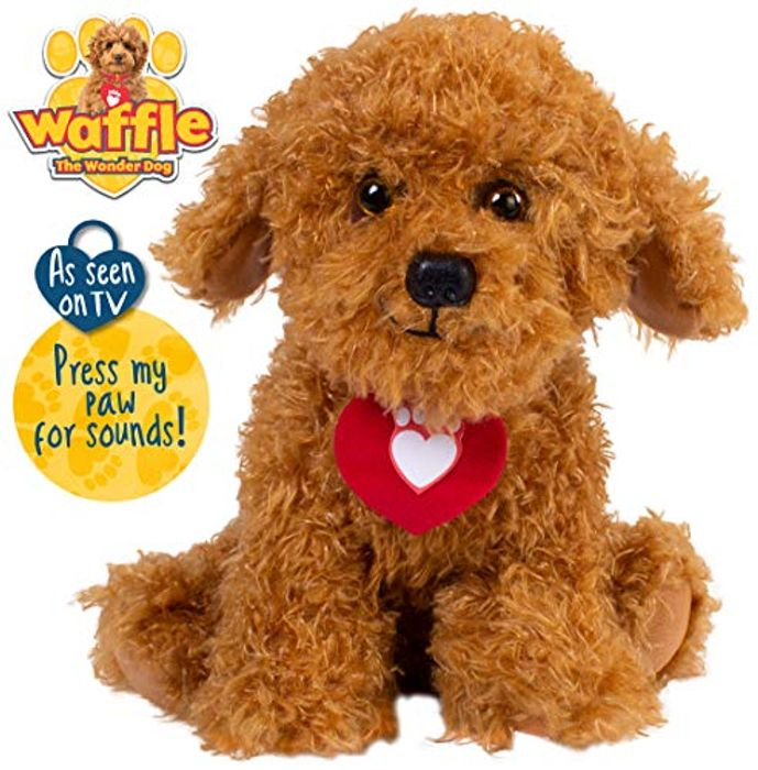 Cheap Waffle the Wonder Dog Soft Toy with Sounds - Only £12.99!