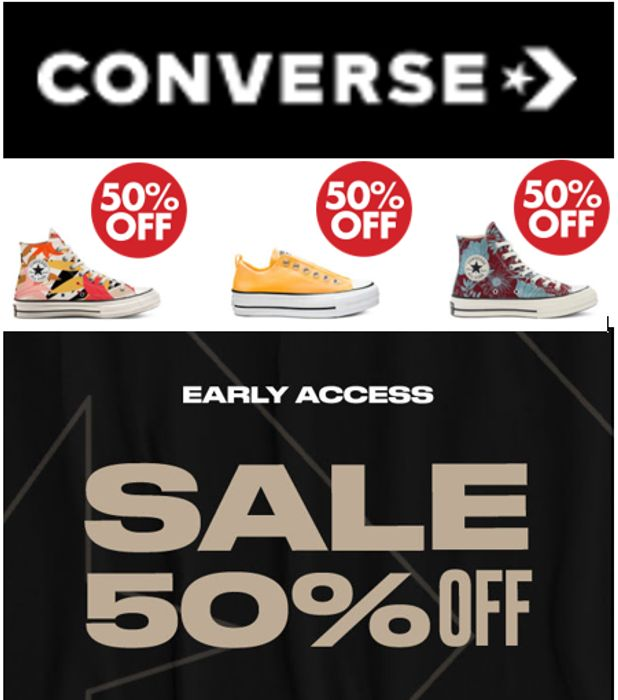 HALF PRICE CONVERSE SALE! - 50% OFF CONVERSE