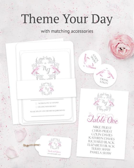 Free Wedding Invitation Sample Pack - 2 Invites Envelopes & Colour Palette