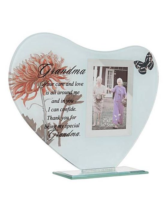 Sentiment Glass Heart Frame