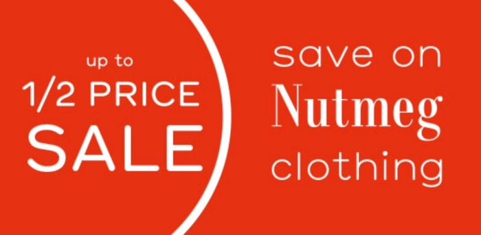 Up to Half Price on Mens, Womens, Kids & Babies - Free Click & Collect