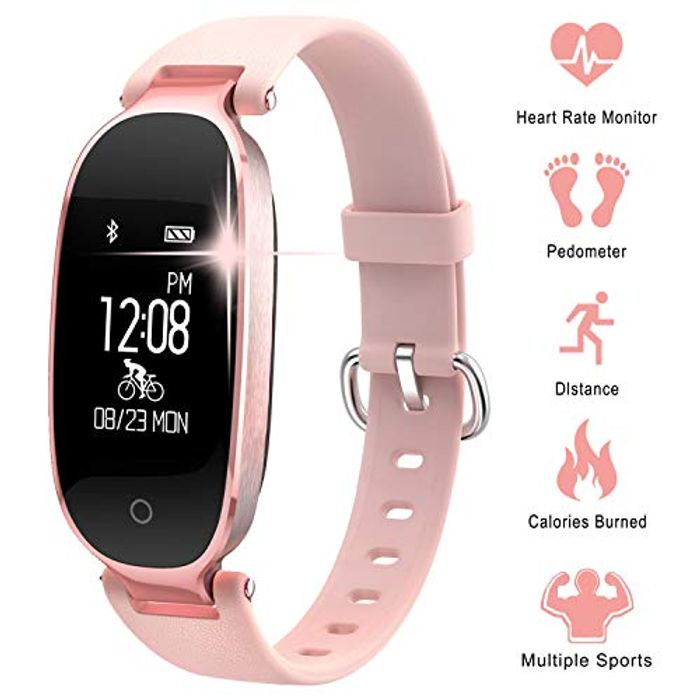 DEAL STACK - Woman Fitness Tracker IP67 Waterproof Activity Trackers