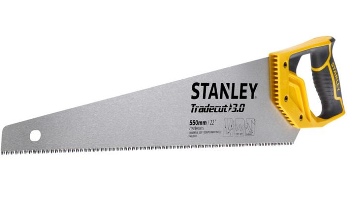 """Stanley Tradecut First Fix Handsaw 22"""" - Only £4.99!"""