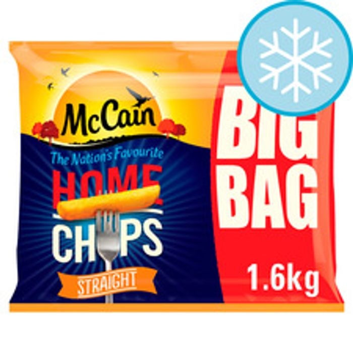 Mccain Home Chips Straight Cut 39%off (Clubcard Price at Tesco