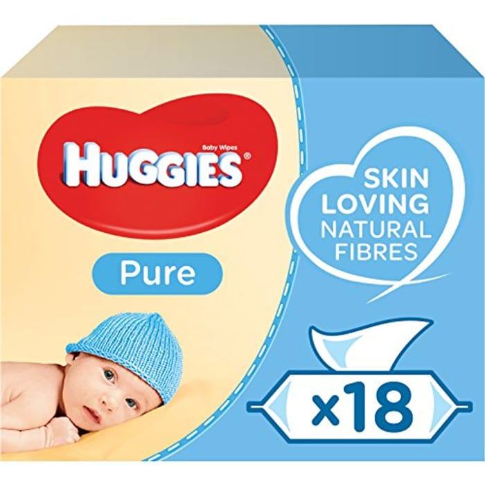 CHEAP! Huggies Baby Wipes, Pure, No. Packs (18 Packs, 1008 Wipes Total)
