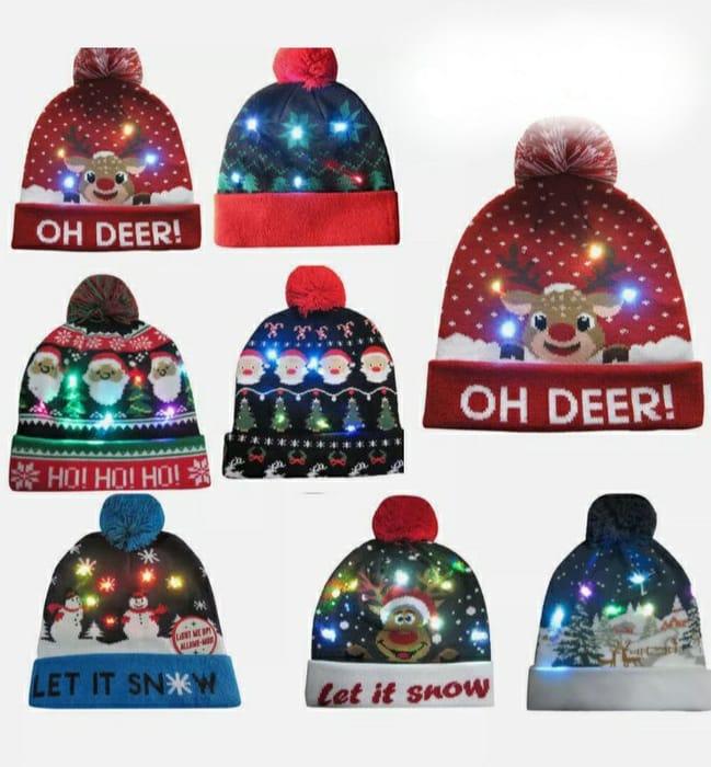 Christmas LED Light up Beanie Hats