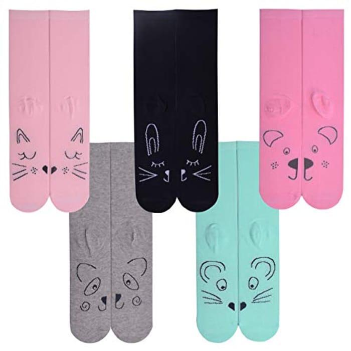 Best Price! Ladies 5 Pack Side by Side Design Socks
