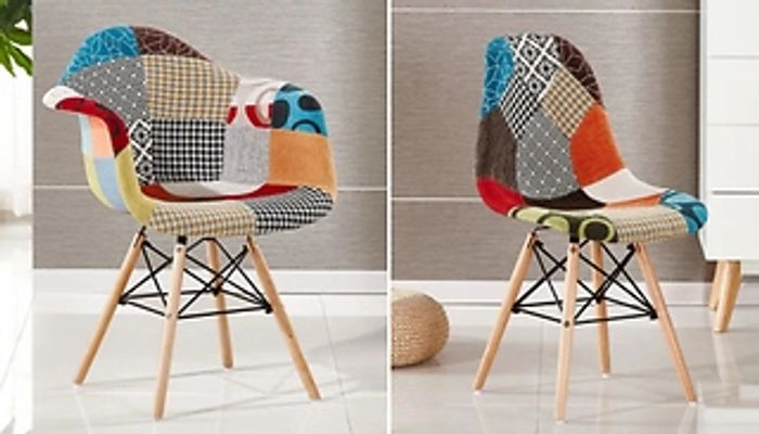Modern Patchwork Dining Chair - with or without Arms