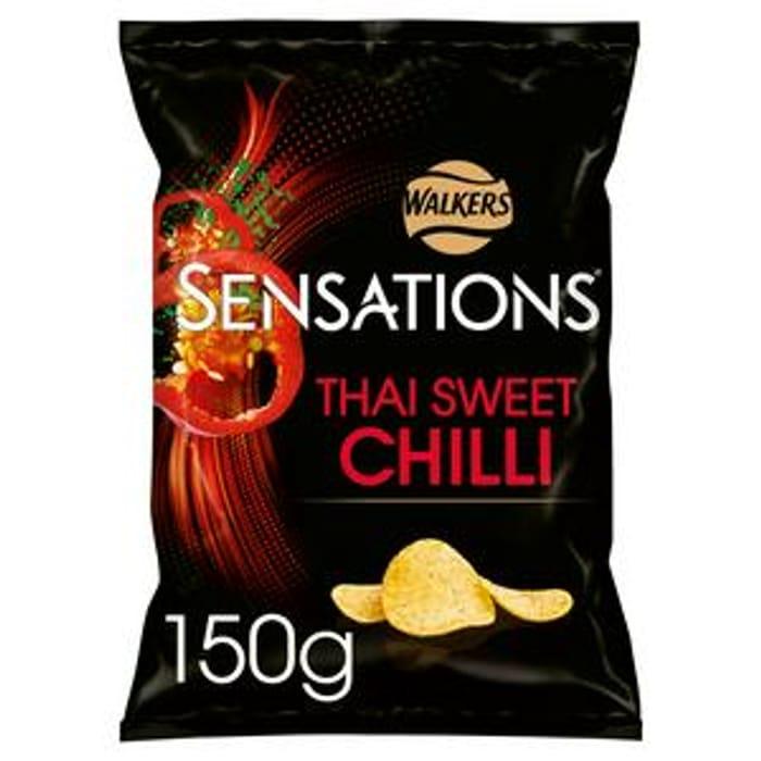 Sensations Thai Sweet Chilli Crisps 150g - Only £1!