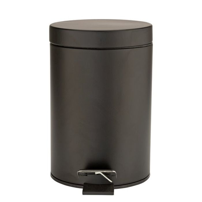 Argos Home 3 Litre Slow Close Bathroom Bin - Matt Black