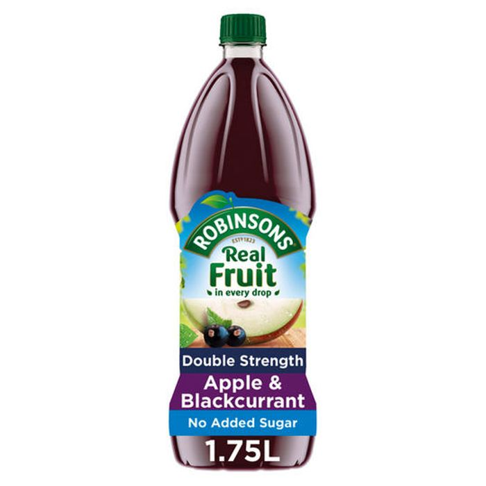 Robinsons Double Concentrate Apple & Blackcurrant Squash No Added Sugar 1.75L