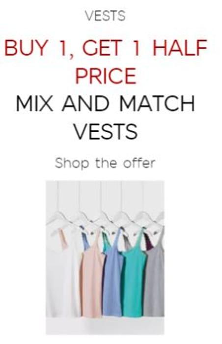 Buy 1 Get 1 Half Price Mix and Match Vests M&S