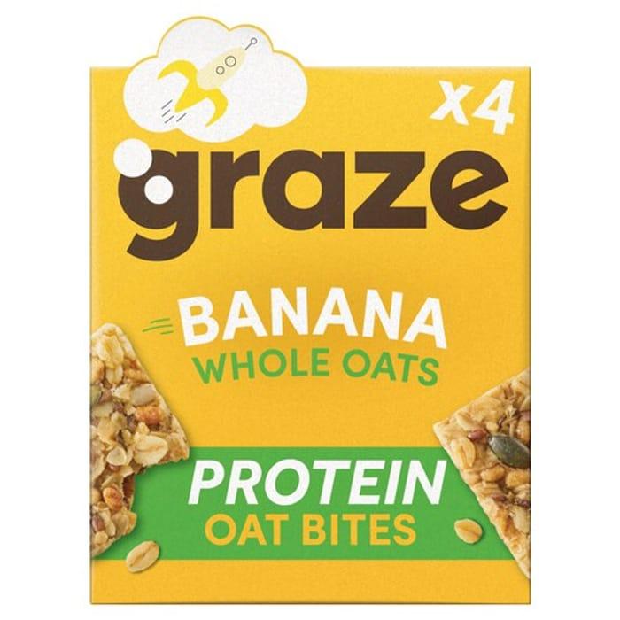 Graze Oat Protein Bites Banana/ Vanilla save 40%, Morrisons
