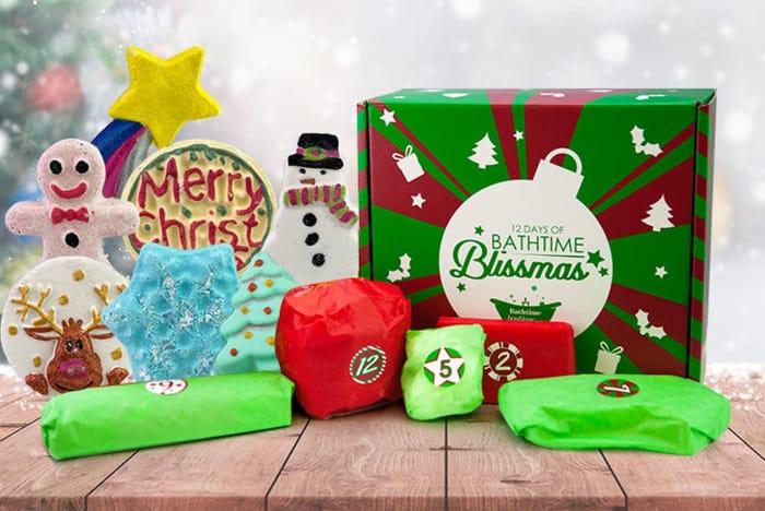 Christmas Beauty Advent Calendar - 12 Large Bath Bombs