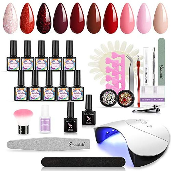 Gel Nail Starter Kit W/ 36W LED UV Lamp Dryer