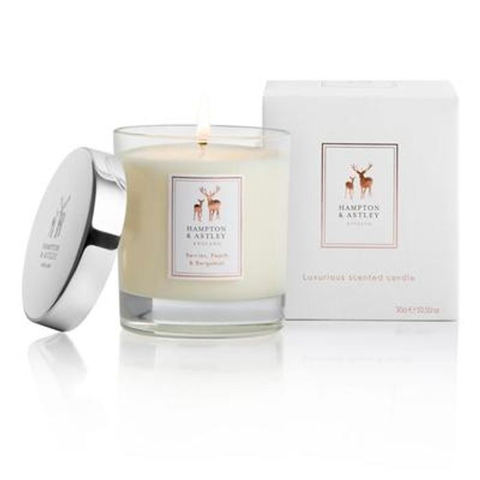 3 Luxury Natural Wax Candles Orders for £49.99 at Hampton and Astley