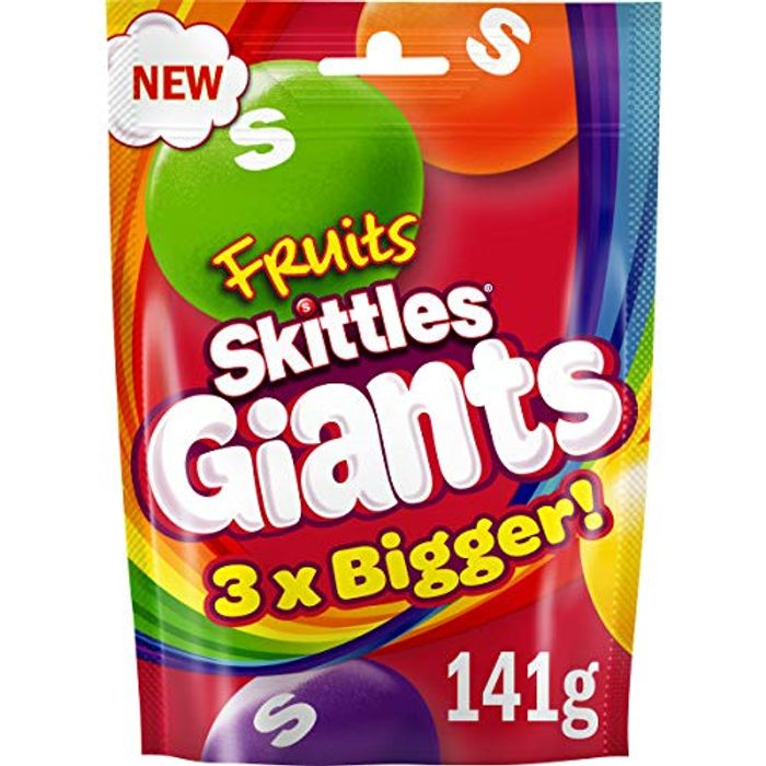 Wrigleys Skittles Giants Fruit Sweets Pouch Bag 141g