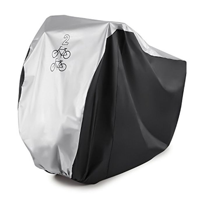 Bike Cover for 2 Bikes GoFriend 190T Nylon Waterproof Bike Cover
