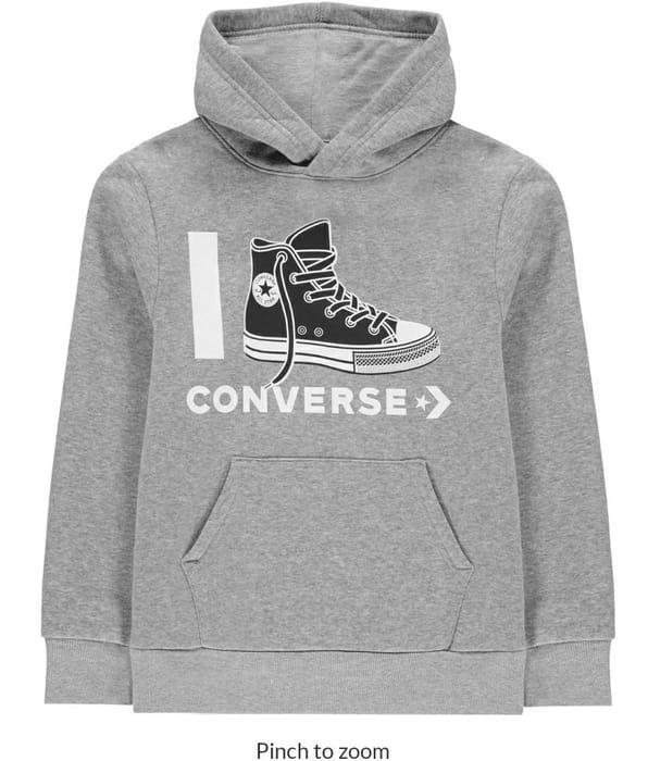 Best Price! CONVERSE Love Hoodie Junior Boys10-11yrs & 12- 13yrs