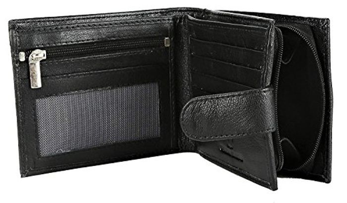 Rfid Blocking Mens Soft Leather Wallet