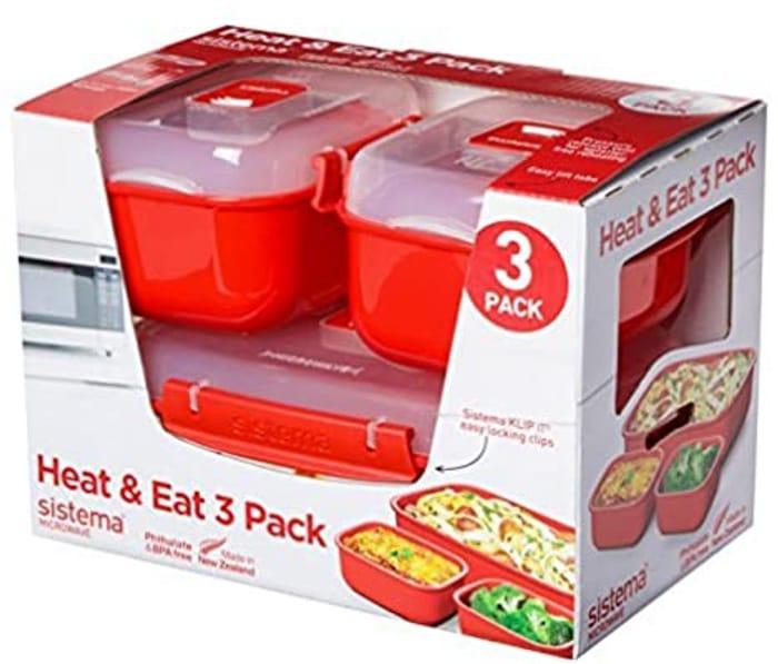 Sistema Microwave Heat & Eat Tupperware - 3 Pack