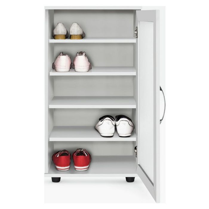 1/2 Price - Contemporary Shoe Cabinet In White Or Oak Effect - £25