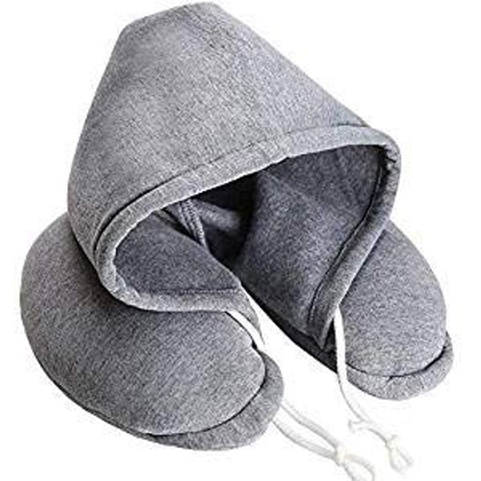 Soft Comfortable Hooded Neck Travel Pillow FREE DELIVERY