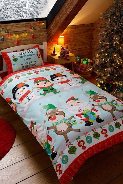 Personalised Santa StopHere Single Duvet Set - Only £7.99!