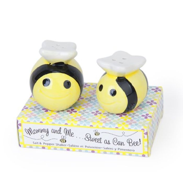 Ceramic Bee-Pattern Salt and Pepper Shakers FREE DELIVERY