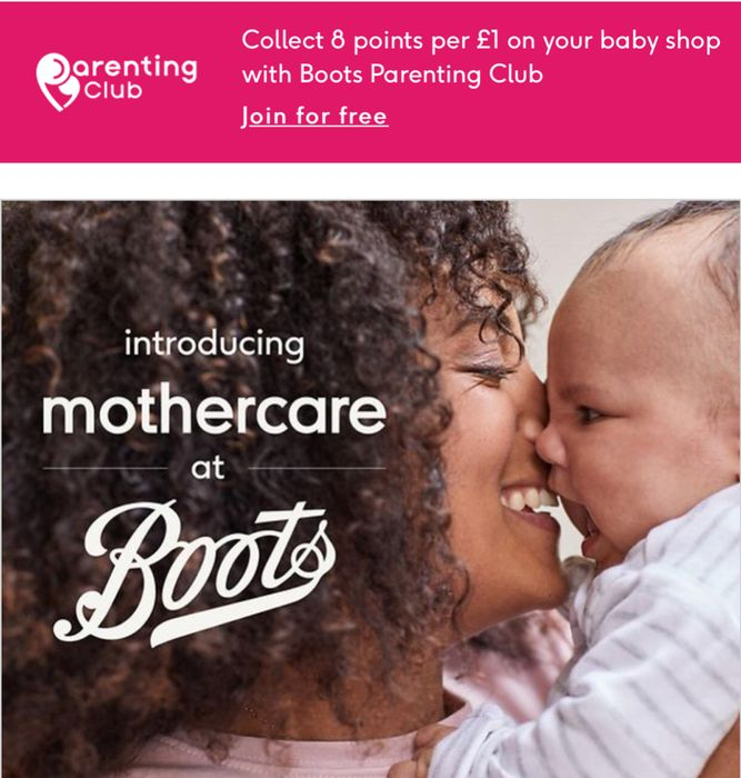 Introducing Mother Care in Boots