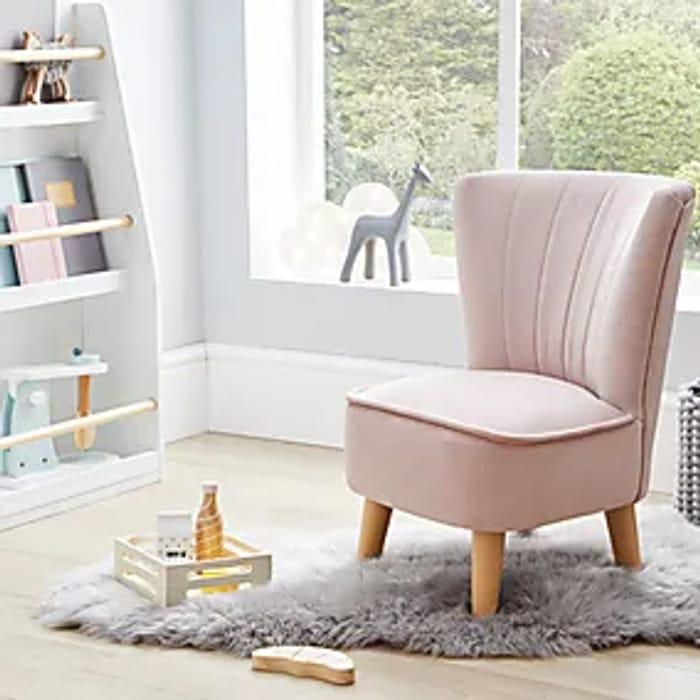 Kids Miniature Isla Velvet Cocktail Chair - Blush