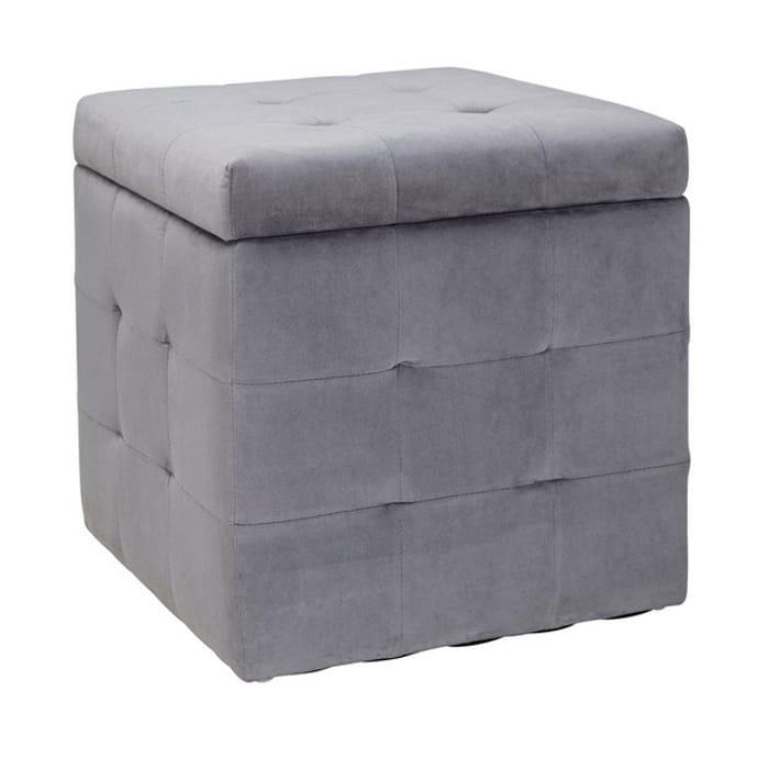 CHEAP! Argos Home Small Velvet Ottoman - Grey