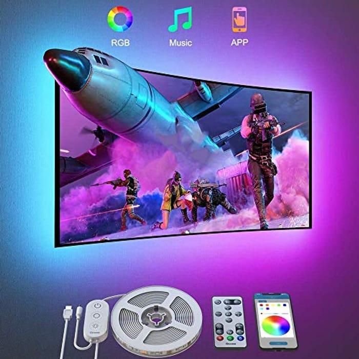 "Bluetooth RGB TV Backlight LED Strip Lights for 46-60"" TVs"