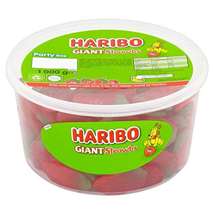 HARIBO Giant Strawberry Bulk Sweets, 1 Kg