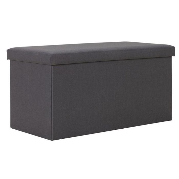 Argos Home Medium Fabric Ottoman - Grey Click & Collect